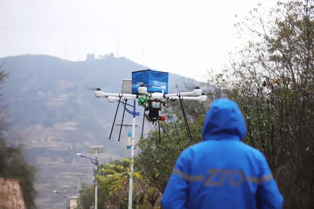 中通最新发布的油电混合无人机首飞成功!
