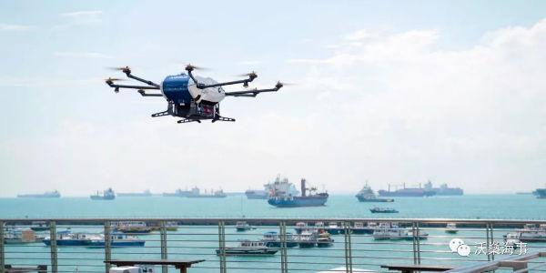 世界首次商业无人机向锚泊船送货测试成功