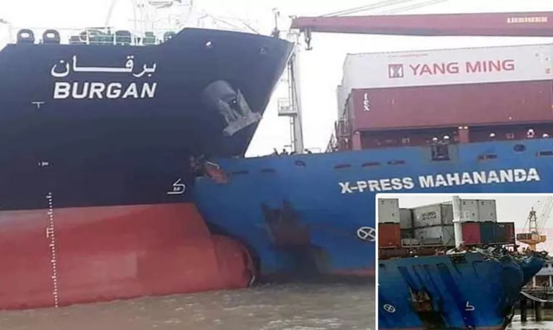 吉大港一集装箱船与油轮相撞,48小时后分离,致航道一度关闭,拥堵雪上加霜