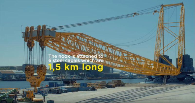 全球最大起重机:最大起重量5000吨!首秀怒赚1.8亿!