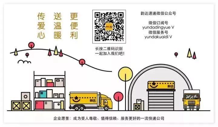 韵达速递关于为发往湖北武汉等地疫情防控物资提供公益物流运输的公告