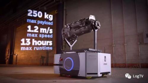 250kg载荷的AGV推出,一个系统可控制多台机器人