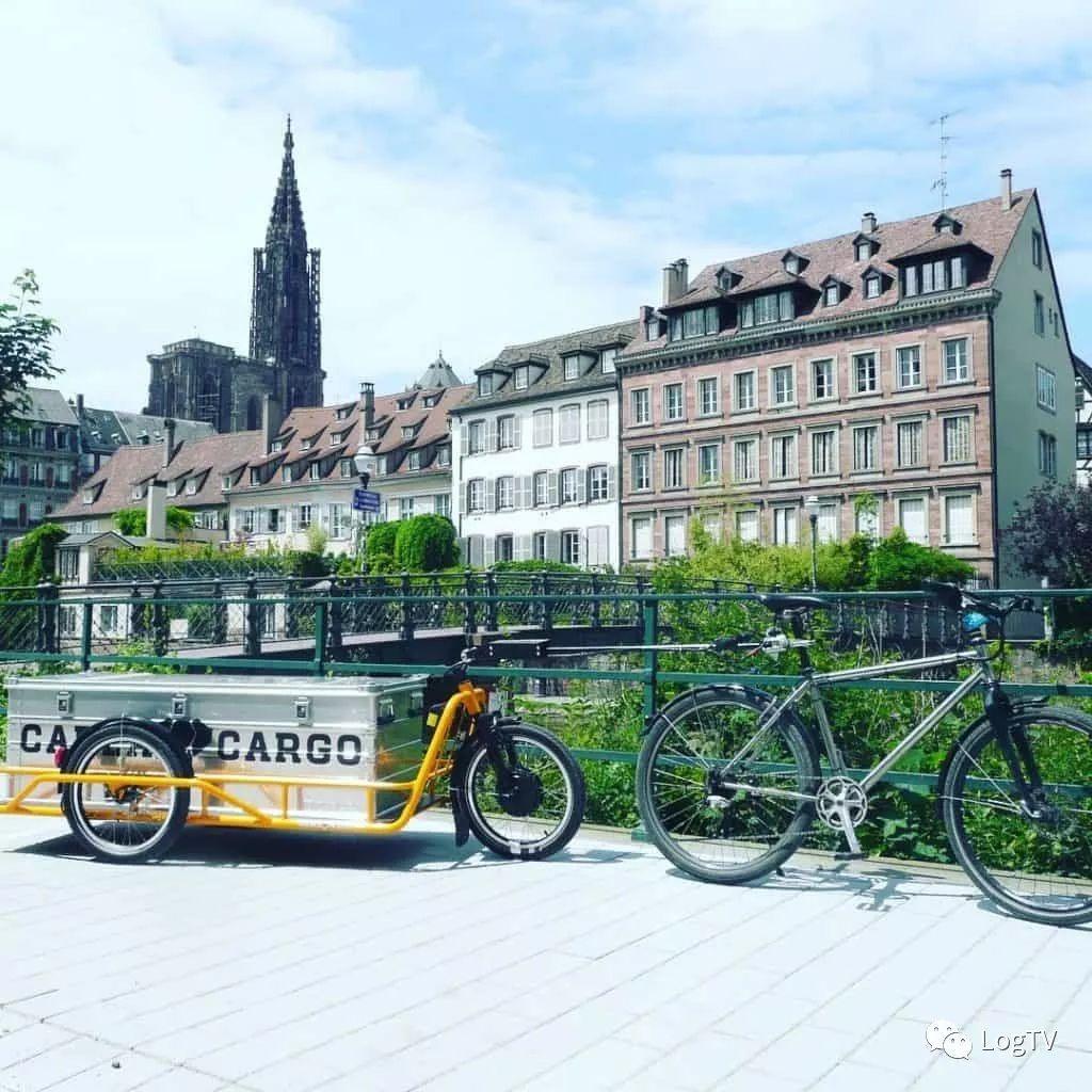 """自行车""""甩挂货车""""来啦!会骑自行车就能运货"""