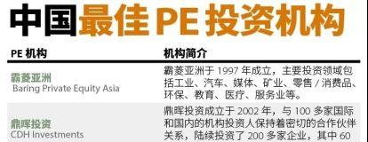 福布斯中国2018最佳PE机构TOP30