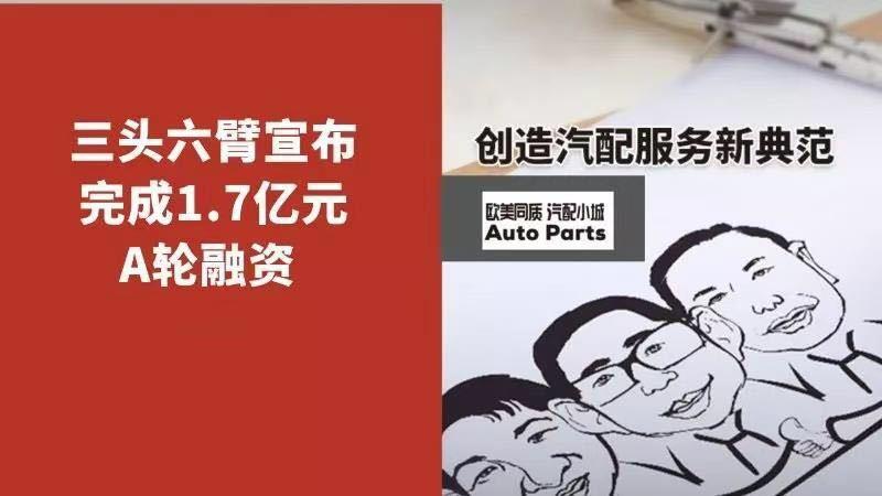 汽配供应链平台三头六臂宣布完成1.7亿元A轮融资 钟鼎资本领投
