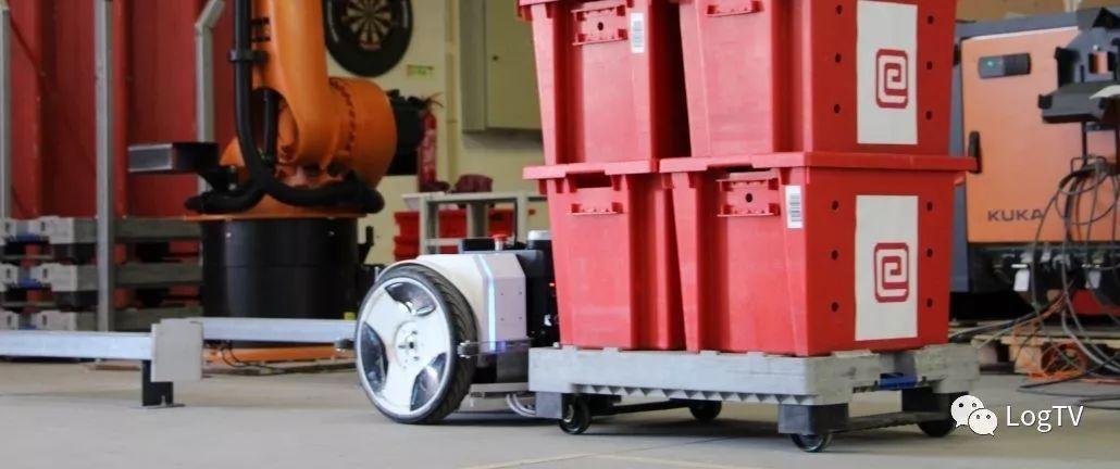 尺寸最小的牵引式AGV,外观形似平衡车