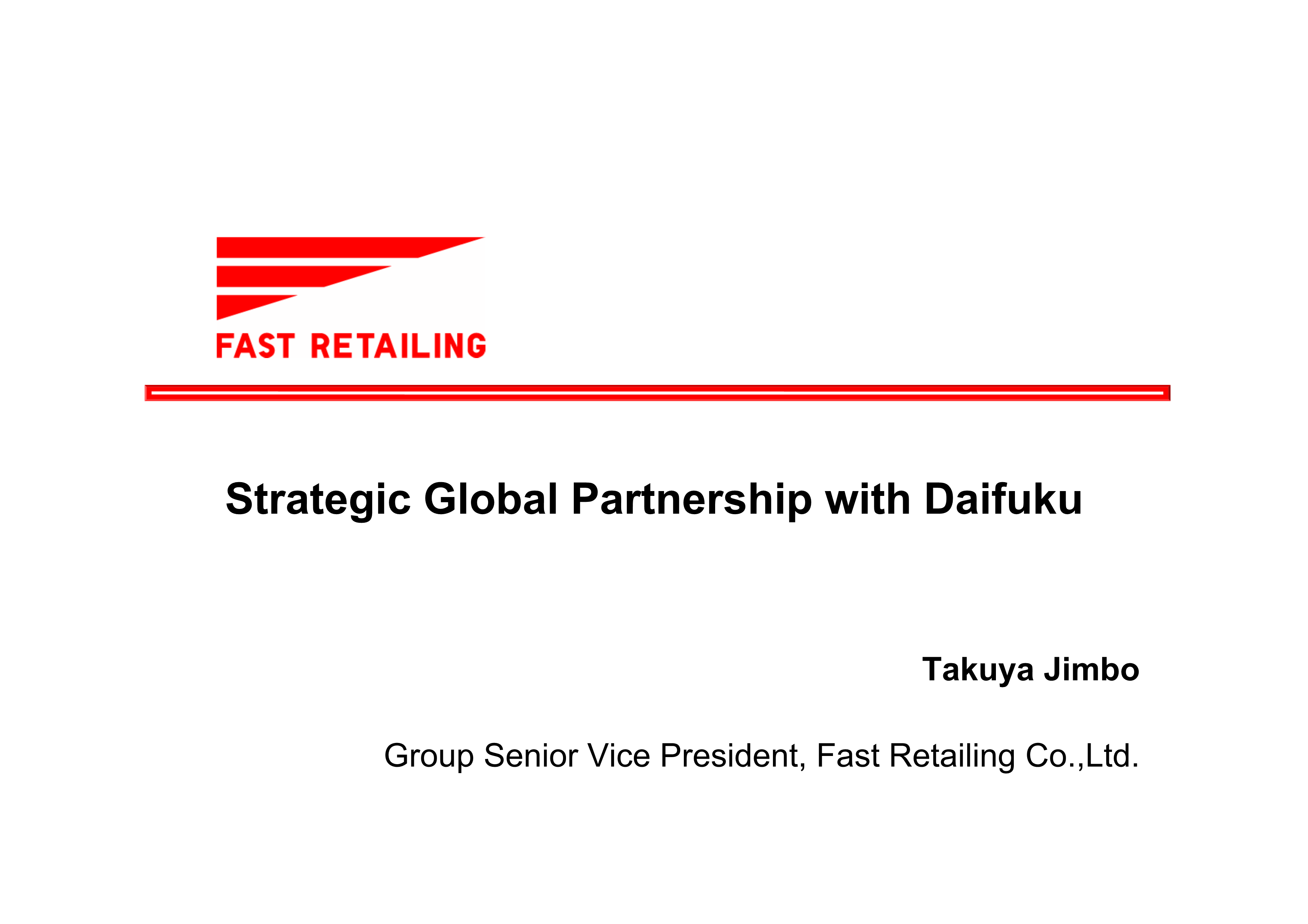 Strategic Global Partnership with Daifuku【附下載】