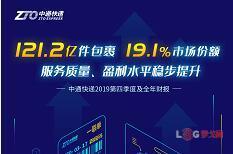 中通2019年报发布:包裹121.2亿件,市场份额19.1%,净利润52.9亿(附财报解读PPT)