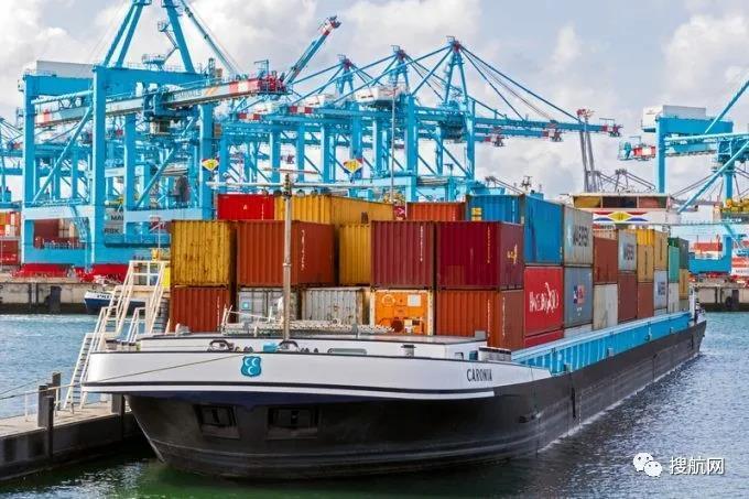 欧洲内陆航道大拥堵!驳船等待长达77个小时,5万个集装箱延误,船公司收取拥堵附加费