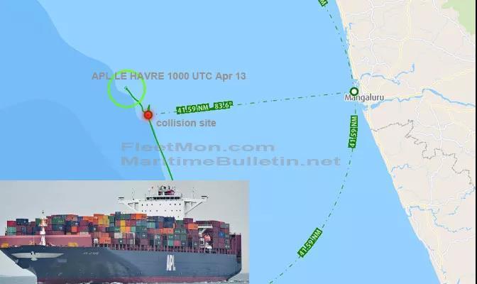 一艘超大型集装箱船撞到渔船,曾挂靠上海宁波青岛多个港口,船期恐延误!